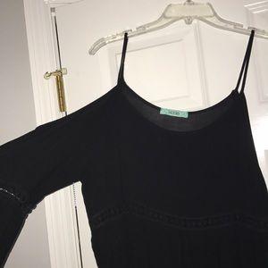 0f91892a02d Karlie Tops - Cold shoulder black top